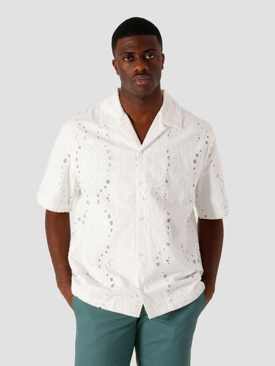 Daily Paper Kovan Lace Relaxed Shirt White 2111166
