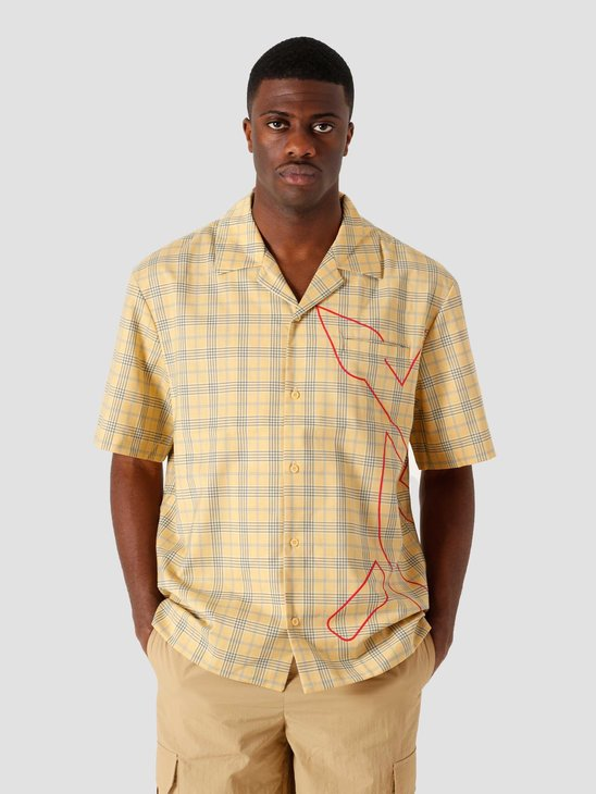 Daily Paper Kovan Relaxed Short Sleeve Yellow Check 2111131