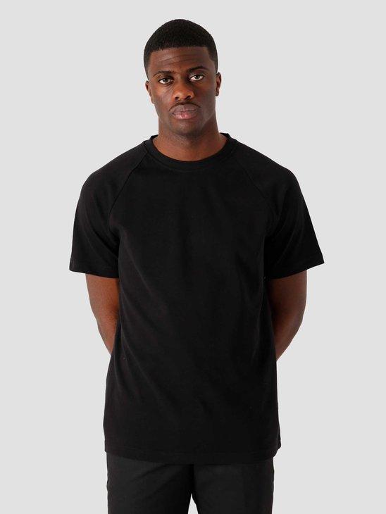 Quality Blanks QB302 Heavy Raglan T-shirt Black