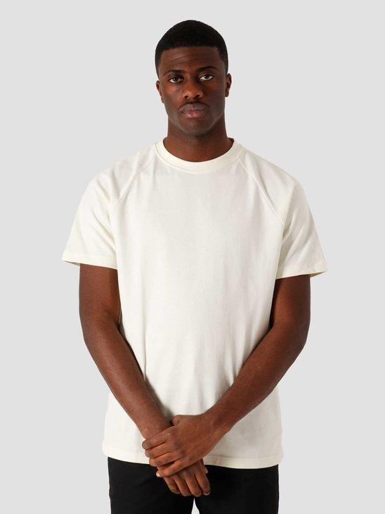 Quality Blanks QB302 Heavy Raglan T-shirt Off White