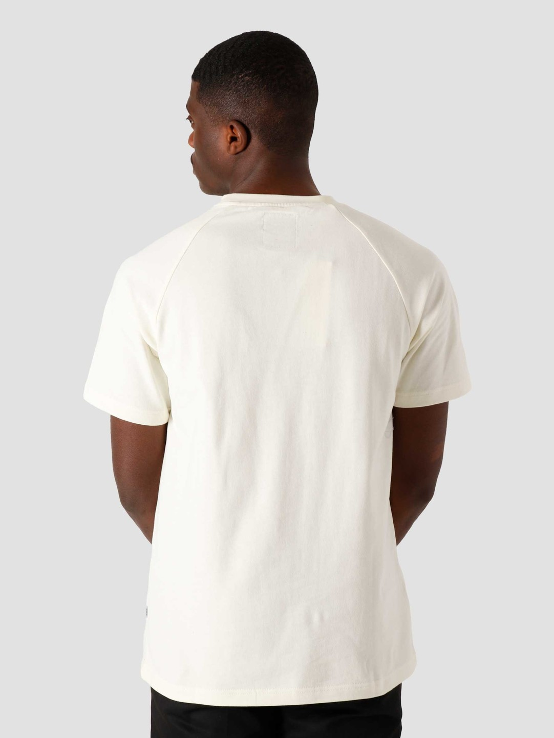 Quality Blanks Quality Blanks QB302 Heavy Raglan T-shirt Off White