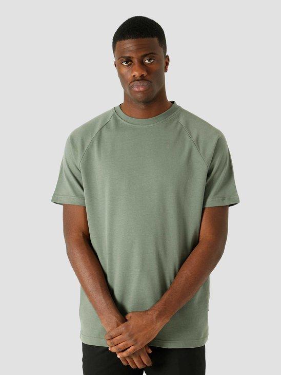 Quality Blanks QB302 Heavy Raglan T-shirt Olive