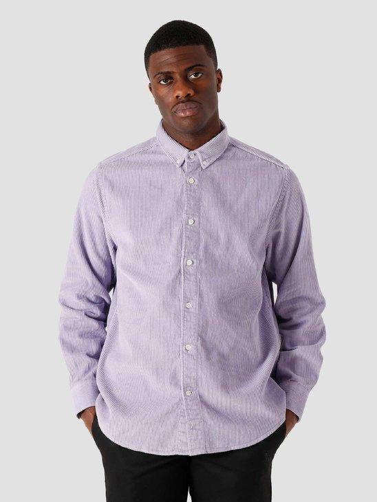 Quality Blanks QB41 Cord Shirt Lilac