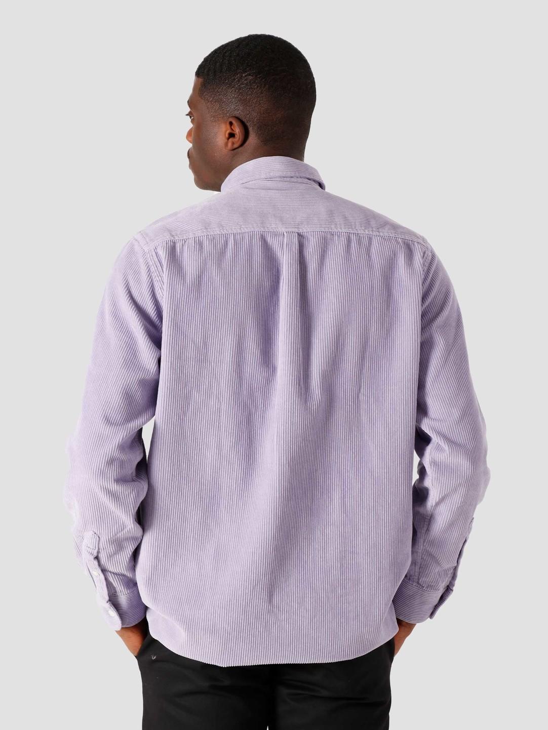 Quality Blanks Quality Blanks QB41 Cord Shirt Lilac