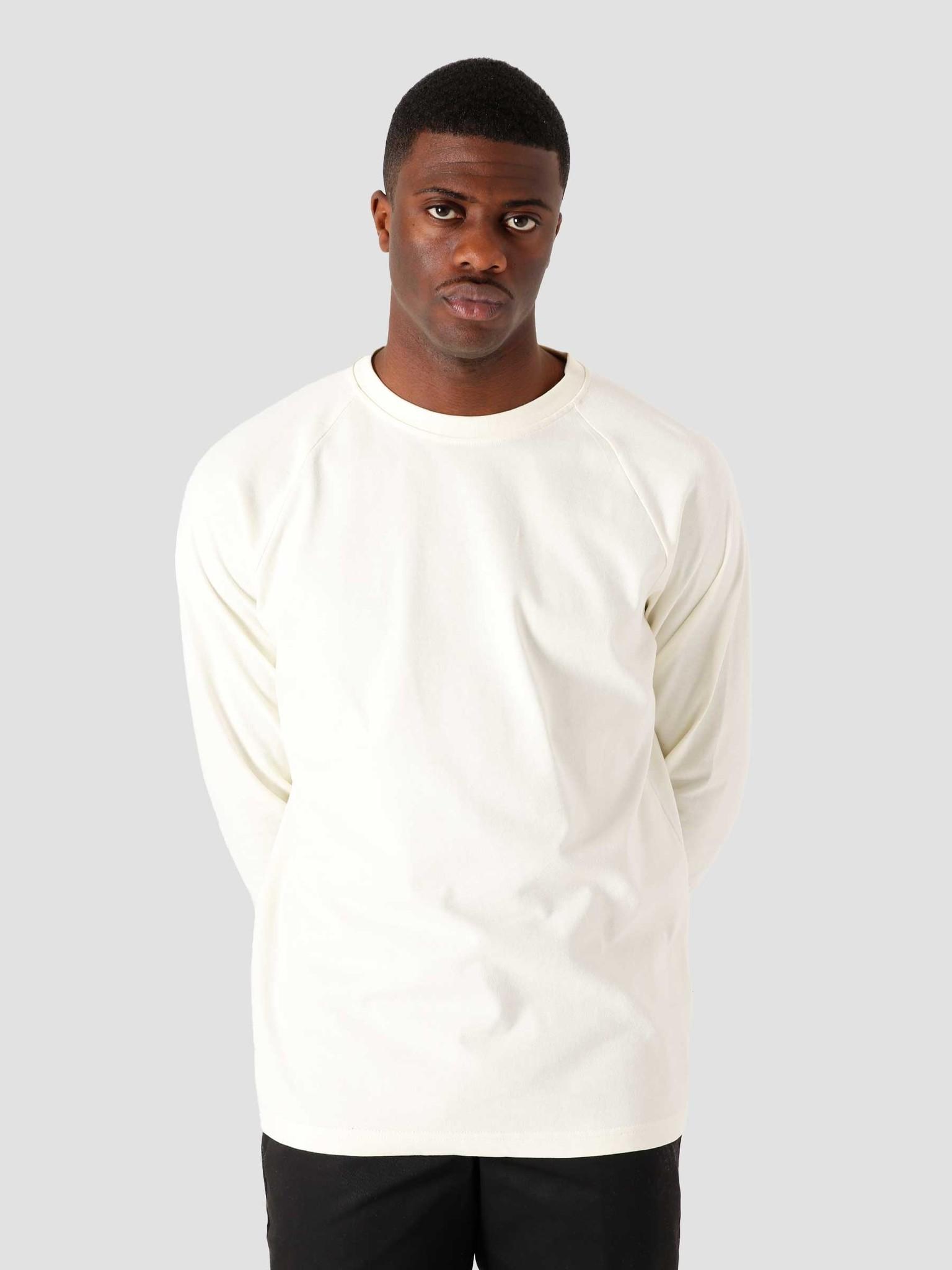 Quality Blanks Quality Blanks QB502 Heavy Raglan Longsleeve Off White