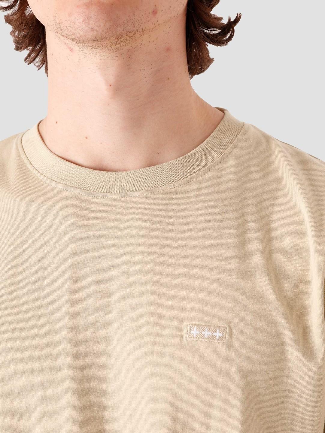 Quality Blanks Quality Blanks QB03 Patch Logo T-shirt Beige
