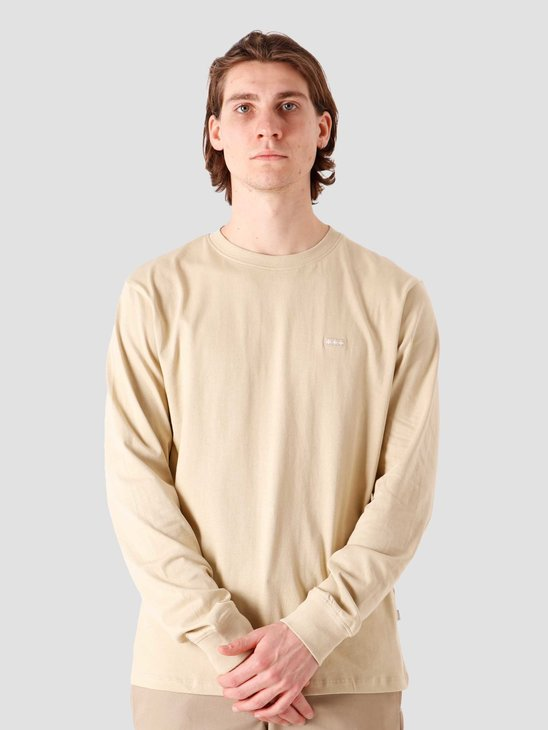 Quality Blanks QB05 Patch Logo Longsleeve Beige