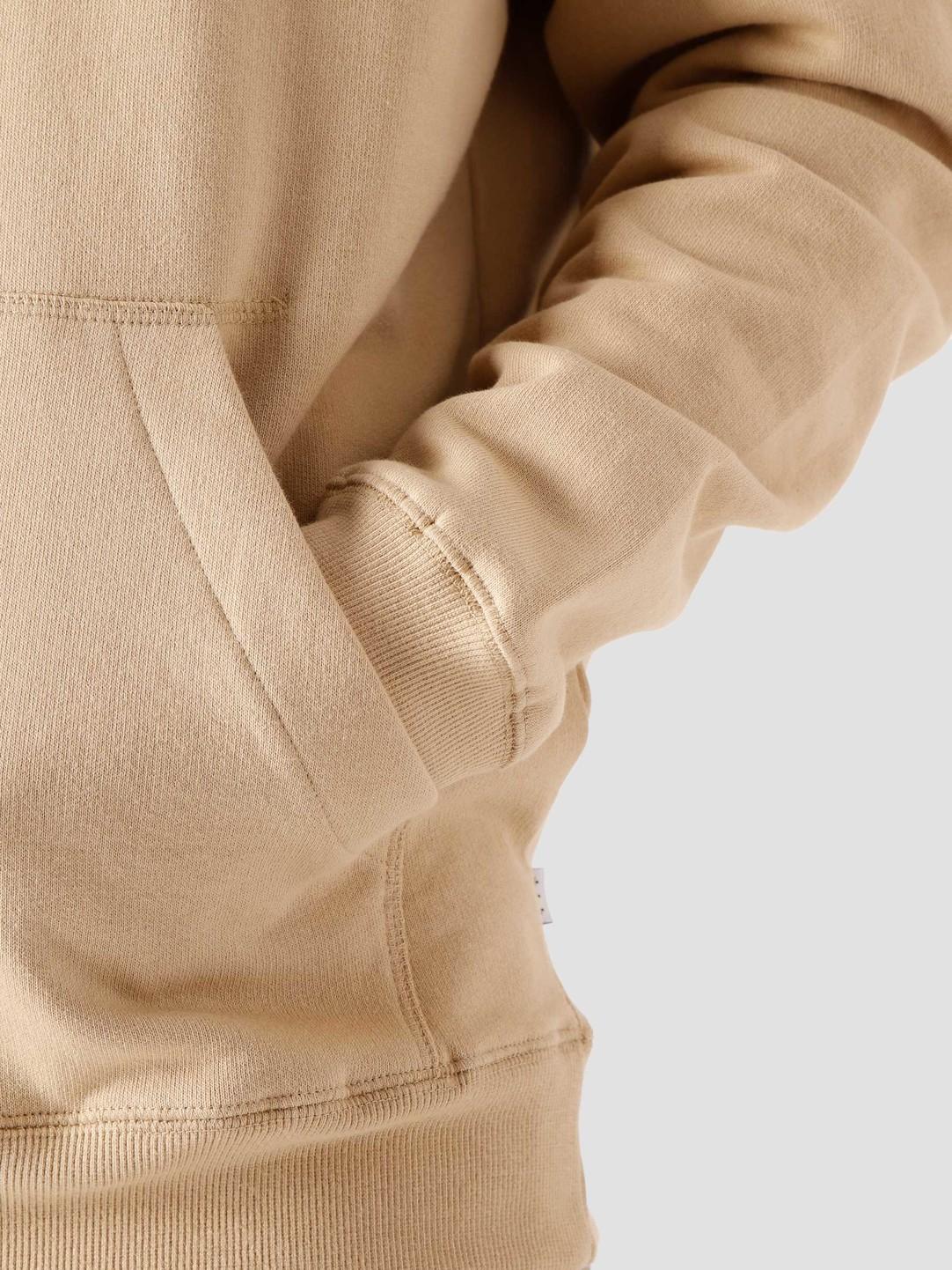 Quality Blanks Quality Blanks QB93 Patch Logo Hoodie Beige