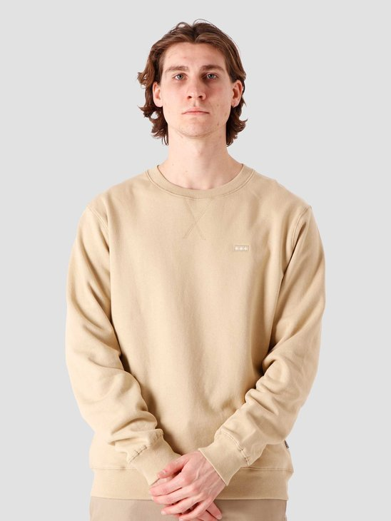 Quality Blanks QB94 Patch Logo Crewneck Beige