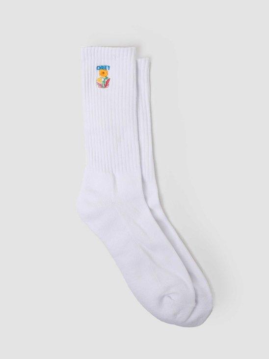 Obey Nico Socks White 100260154-WHT