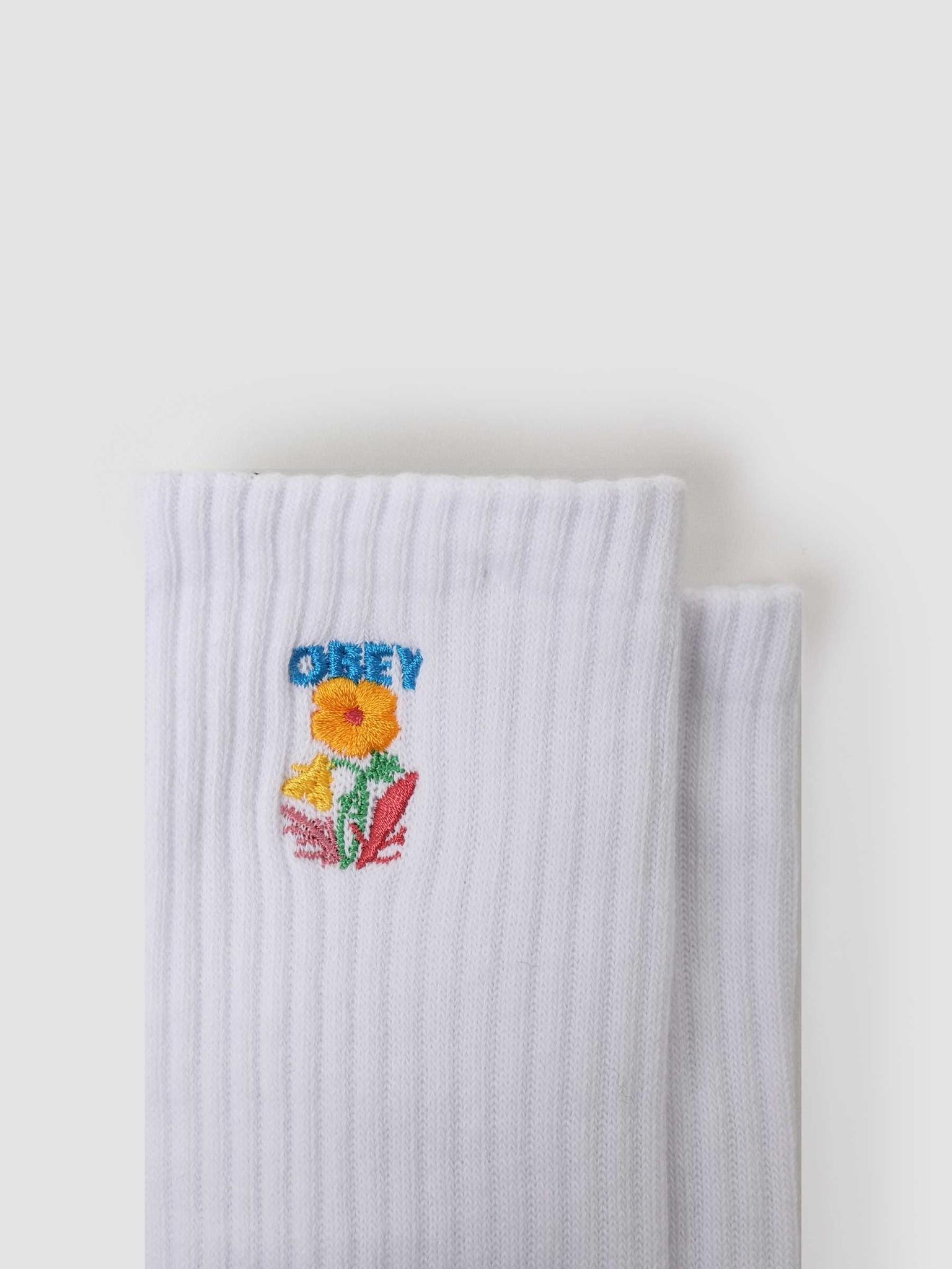 Obey Obey Nico Socks White 100260154-WHT