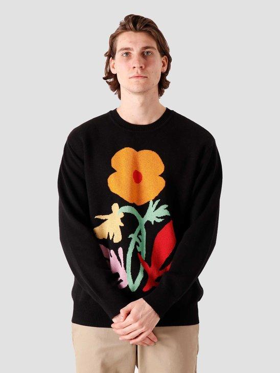 Obey Traces Sweater Black Multi 151000052-BKM