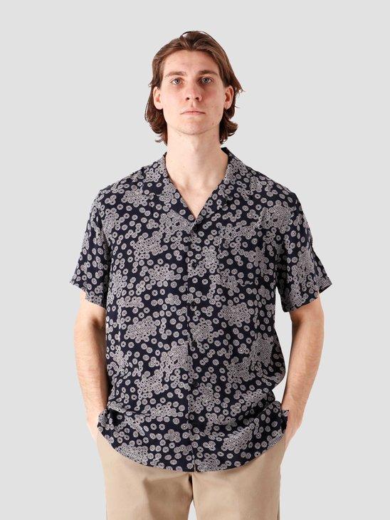 Libertine Libertine Cave Shortsleeve Shirt Blue 2065