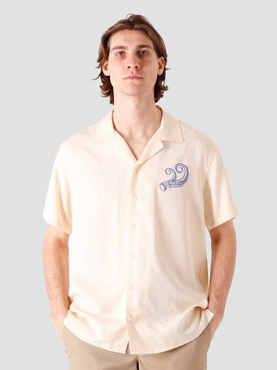 Libertine Libertine Cave Shortsleeve Shirt Off White Pulpo 2036
