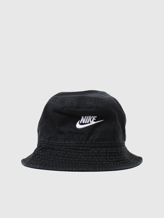 Nike NSW Bucket Hat Futura Wash Black White DC3967-010