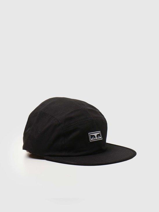 Obey Eyes 5 Panel Hat Black 100490059-BLK