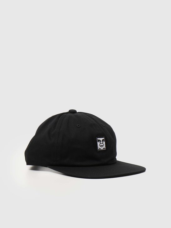 Obey Icon Face 6 Panel Strapback Black 100580251BLK