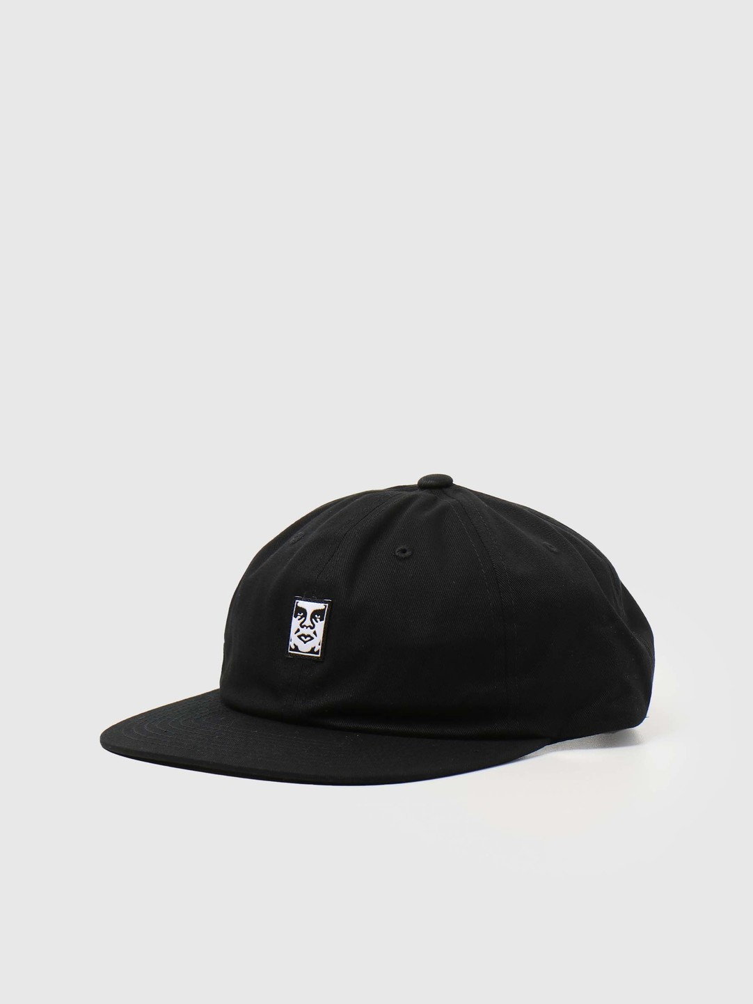 Obey Obey Icon Face 6 Panel Strapback Black 100580251BLK