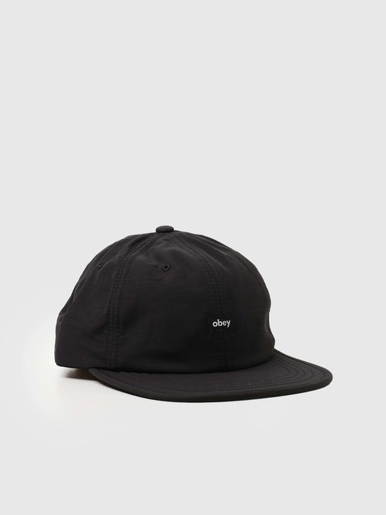 Obey Lampin' 6 Panel Cinch Back Black 100580284-BLK