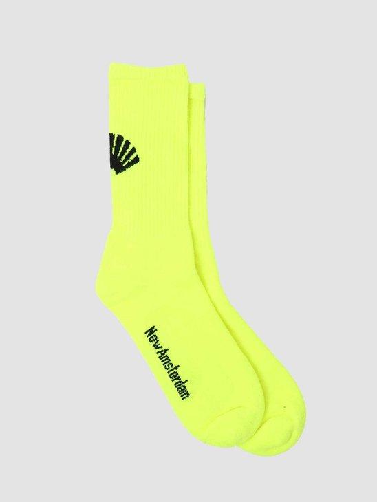 New Amsterdam Surf association Logo Socks Neon 2020019