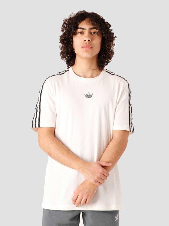 adidas Sport 3 Stripe T-Shirt White GN2422