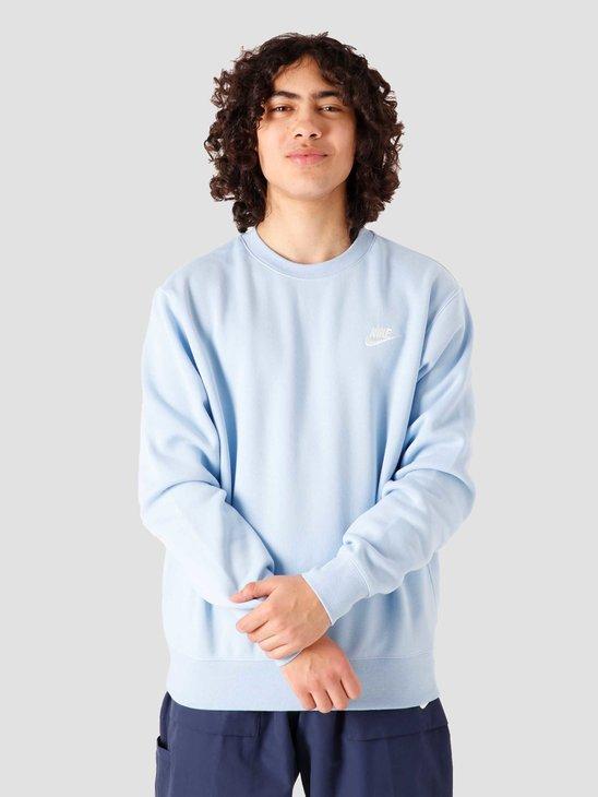 Nike NSW Club Crew Psychic Blue White BV2662-436