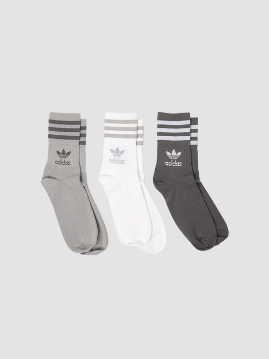 adidas Mid Cut Crew Sock Solid Grey GN3079