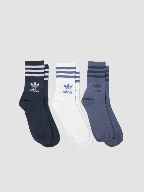 adidas Mid Cut Crew Sock Chalk White GN3077