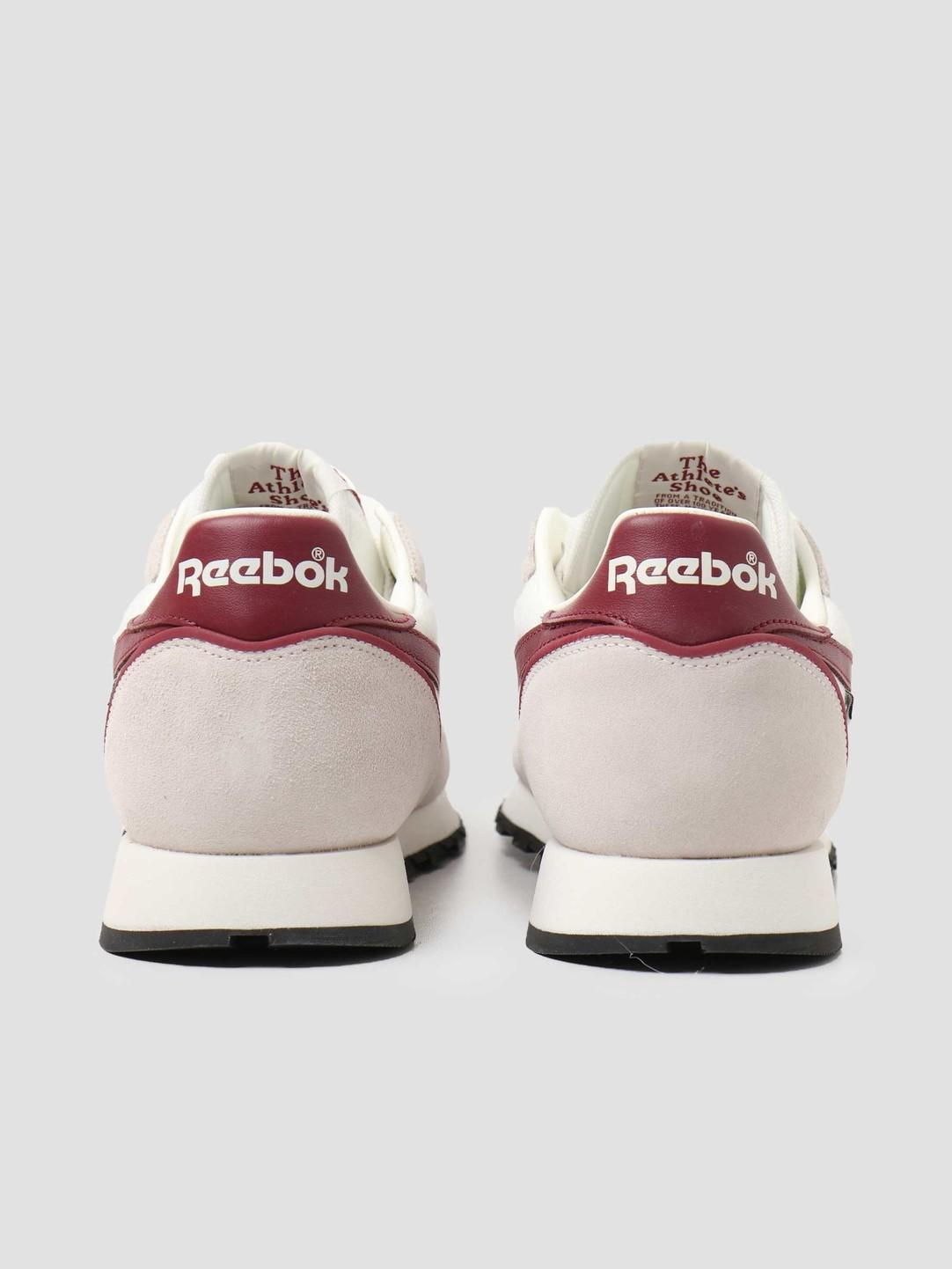 Reebok Reebok Classic Leather Chalk Burgundy Black H05011