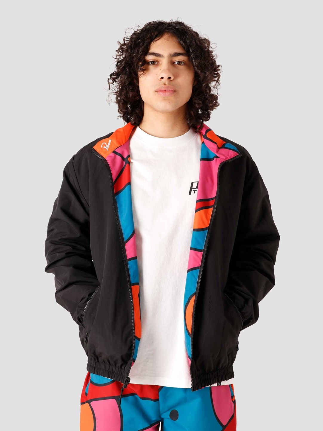 by Parra by Parra Serpent Pattern Track Top 45240