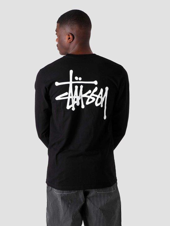 Stussy Basic Stussy Longsleeve T-Shirt Black 1994649-0001