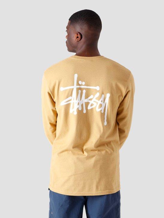 Stussy Basic Stussy Longsleeve T-Shirt Khaki 1994649-1007