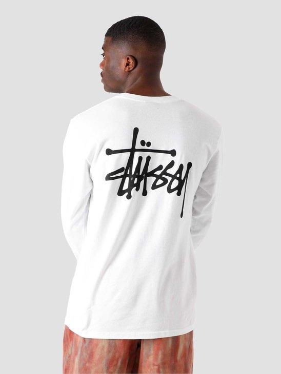 Stussy Basic Stussy Longsleeve T-Shirt White 1994649-1201