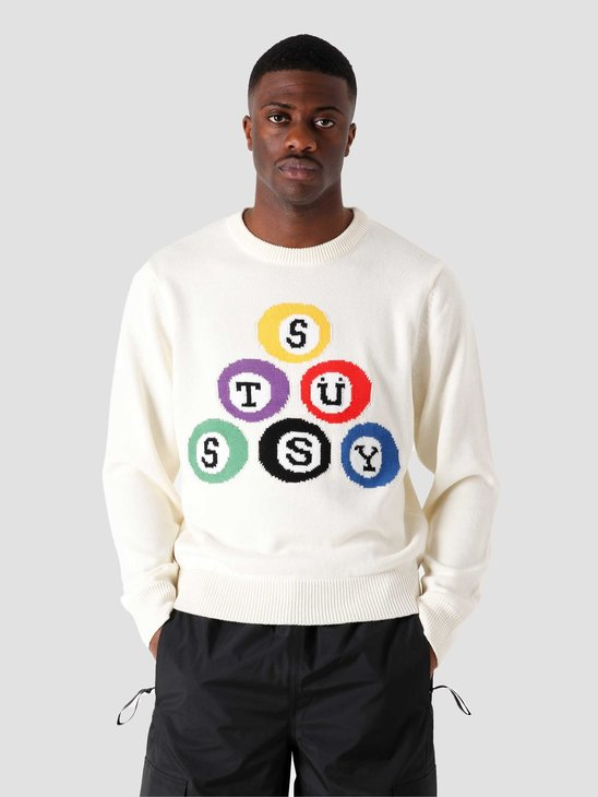 Stussy Billard Sweater Natural 117086-1002