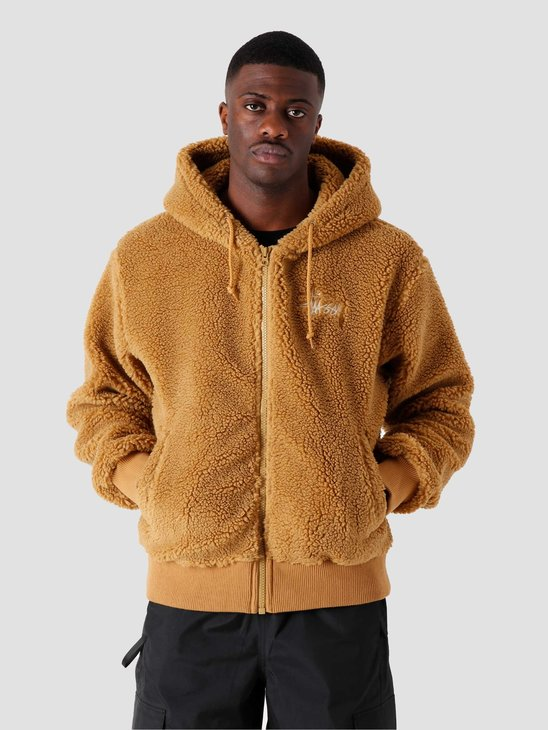 Stussy Sherpa Zip Hoodie brown 118412-1001