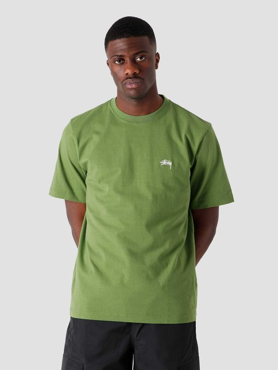 Stussy Stock Logo Crew Green 1140241-0401
