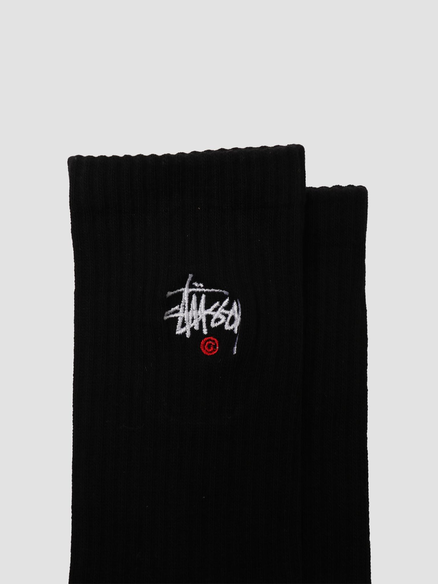 Stussy Stussy Basic Logo Crew Socks Black 138713-0001