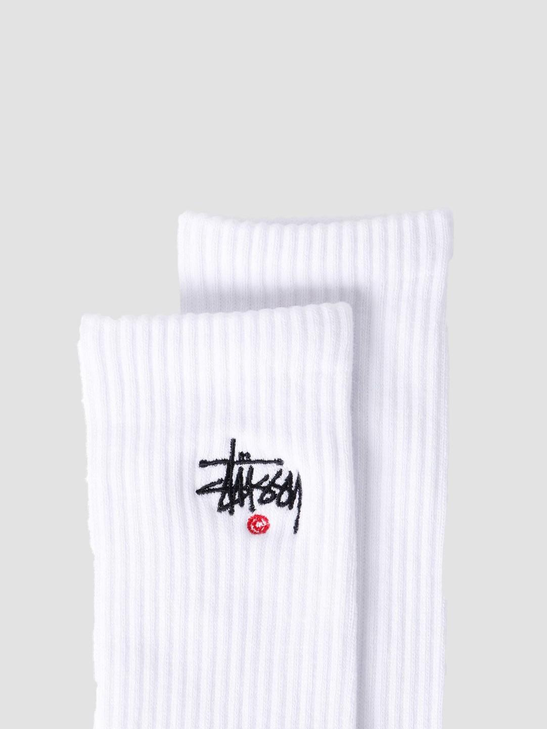 Stussy Stussy Basic Logo Crew Socks White 138713-1201