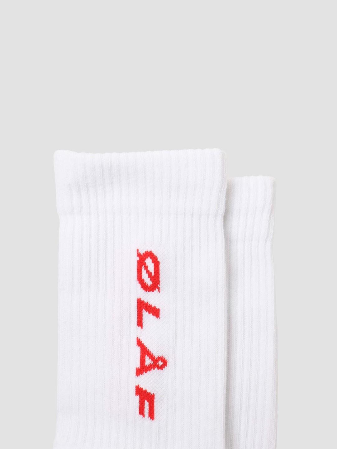 Olaf Hussein Olaf Hussein OH Italic Socks White