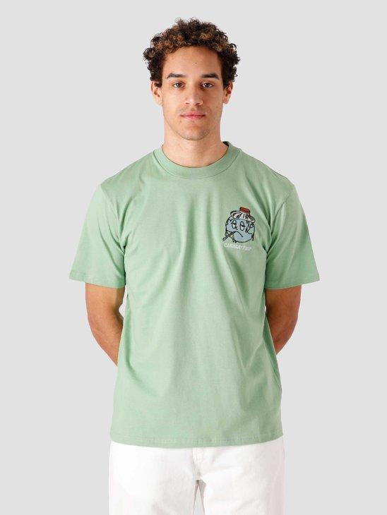 Carhartt WIP SS Ill World T Shirt Mineral Green I029058-0AL00