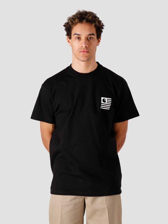 Carhartt WIP Wavy State T-Shirt Black White I029011-8990