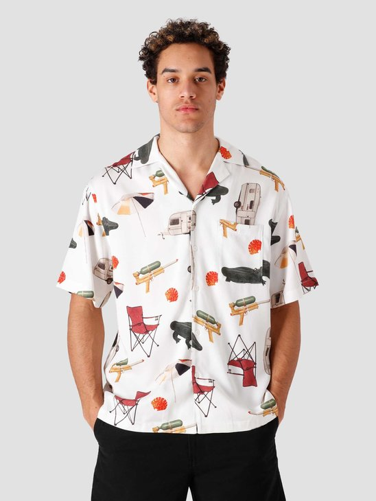 New Amsterdam Surf association Camp Shirt Off White 2021015
