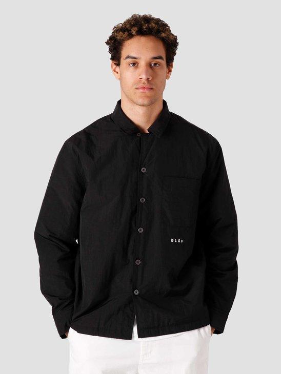 Olaf Hussein OH Nylon Overshirt Black