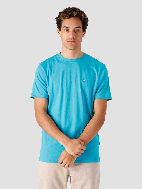 Quality Blanks QB03 Patch Logo T-shirt Surf Blue