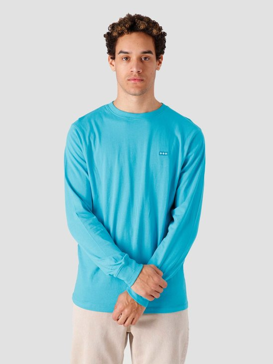 Quality Blanks QB05 Patch Logo Longsleeve Surf Blue