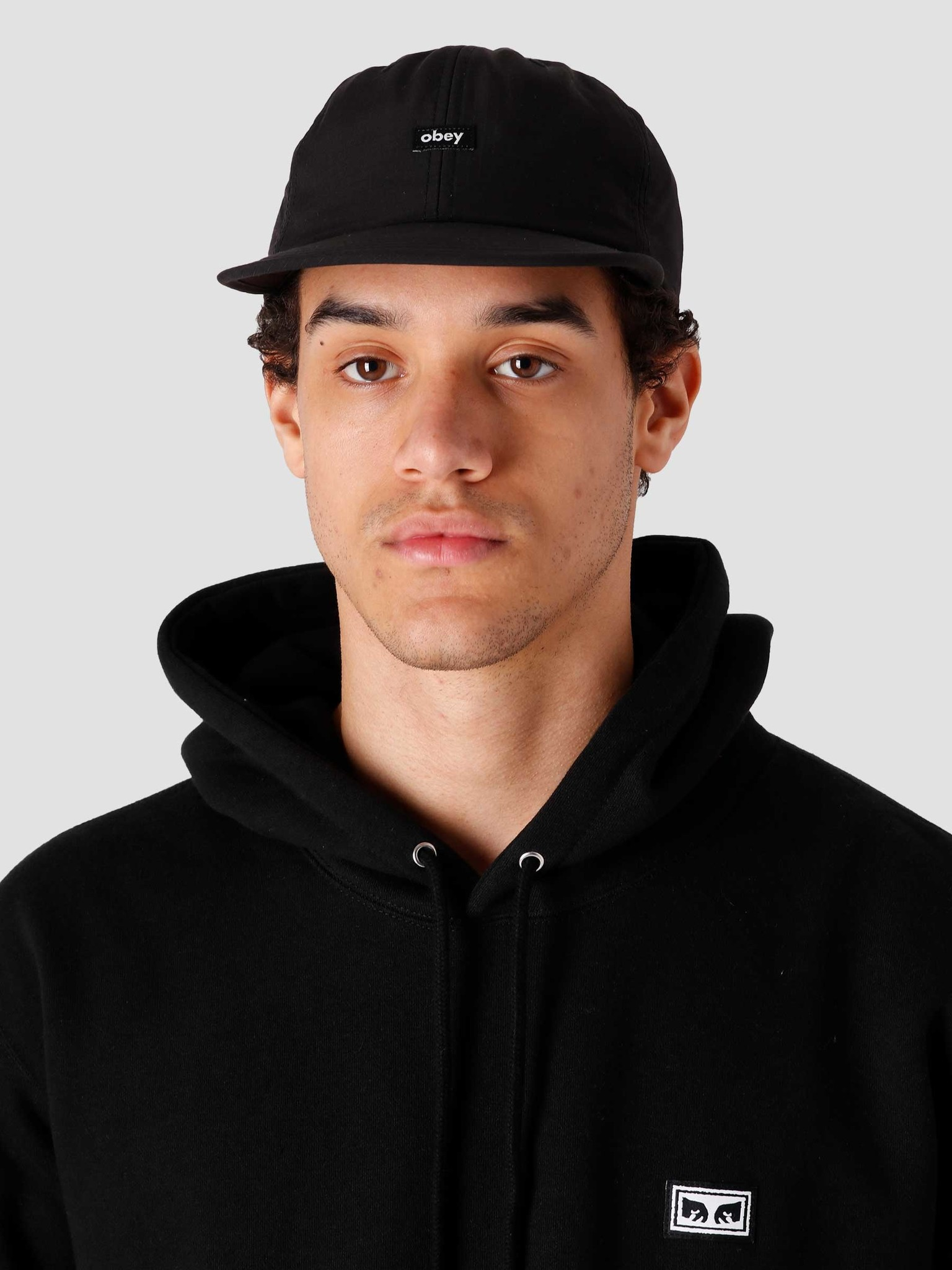 Obey Obey Lampin' 6 Panel Cinch Back Black 100580284-BLK