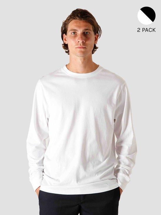 Quality Blanks 2-Pack QB04 Mix Longsleeve Black and White