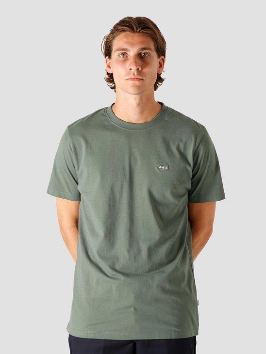 Quality Blanks QB03 Patch Logo T-shirt Olive Green