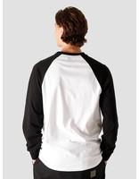 Quality Blanks Quality Blanks QB09 Patch Logo Baseball Longsleeve Black/White