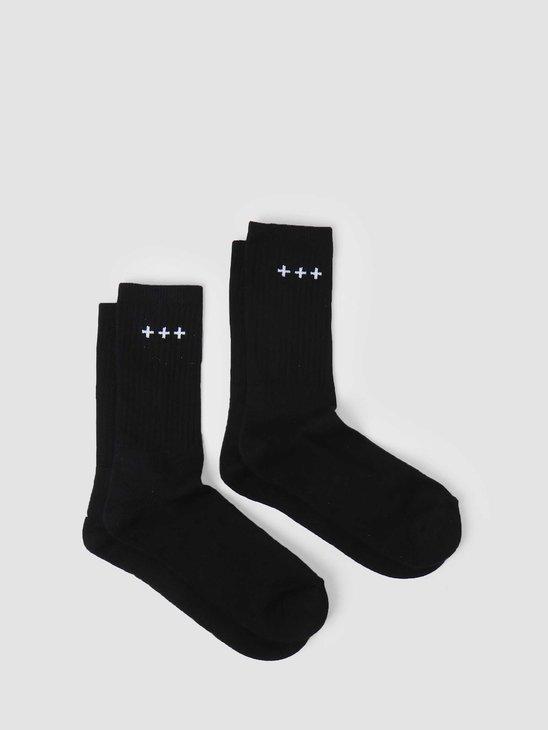Quality Blanks QB13 2 Pack Logo Socks Black